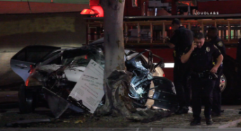 At Least 1 Killed, 4 Injured After Car Crashes Into Tree in Inglewood
