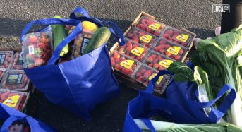 Inglewood Residents Participate in Produce Giveaway
